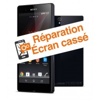 reparation vitre cassee Sony Z