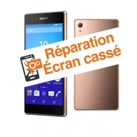reparation vitre cassee Sony Z3+