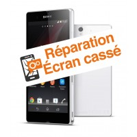 reparation vitre cassee Sony Z1