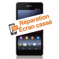 reparation vitre cassee Sony Z1 compact