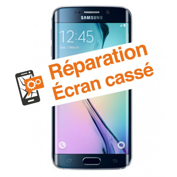 R paration cran cass samsung s6 edge smartphone cass for Samsung s6 photo ecran